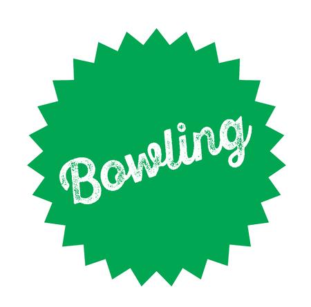 bowling black stamp in german language. Sign, label, sticker Illustration