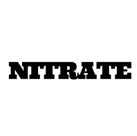 nitrate stamp on white Illustration