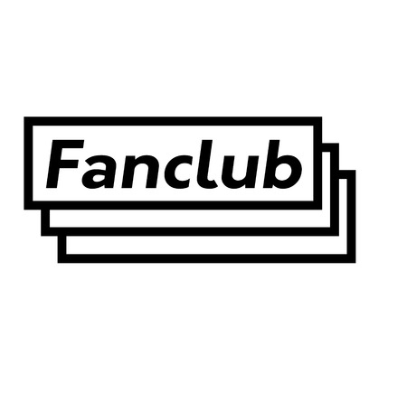 fan club black stamp in german language. Sign, label, sticker
