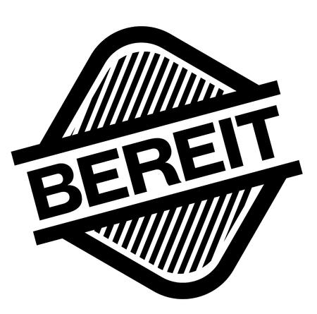 prepared black stamp in german language. Sign, label, sticker Illustration