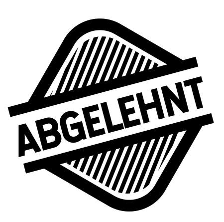 rejected black stamp in german language. Sign, label, sticker