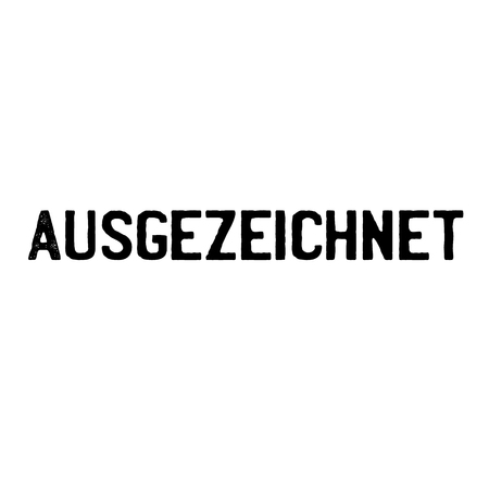 excellent black stamp in german language. Sign, label, sticker Illustration