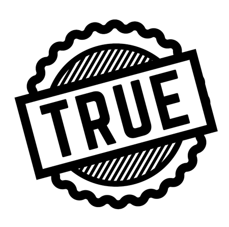 true black stamp on white background. Sign, label, sticker