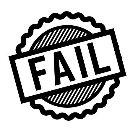 fail black stamp on white background. Sign, label, sticker Illustration