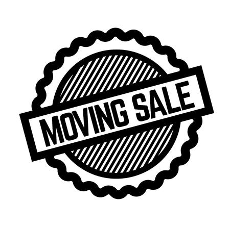moving sale black stamp on white background. Sign, label, sticker