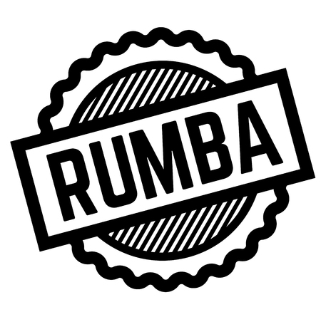 rumba black stamp on white background. Sign, label, sticker Stockfoto - 111799497