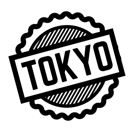 tokyo black stamp on white background. Sign, label, sticker