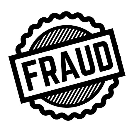 fraud black stamp on white background. Sign, label, sticker