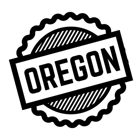 oregon black stamp on white background. Sign, label, sticker 写真素材 - 111799558