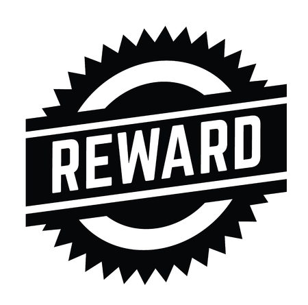 reward stamp on white background . Sign, label sticker