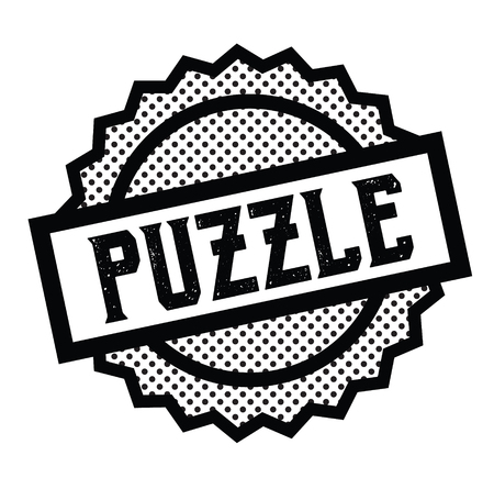 puzzle stamp on white