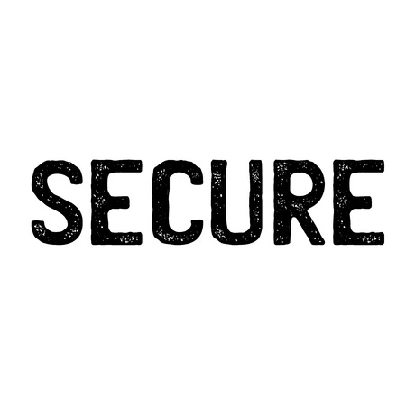 secure stamp on white background . Sign, label sticker