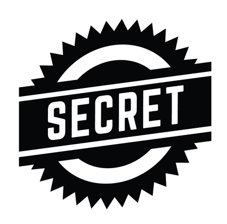 secret stamp on white background . Sign, label sticker Çizim