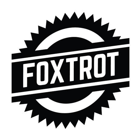 foxtrot stamp on white background . Sign, label sticker