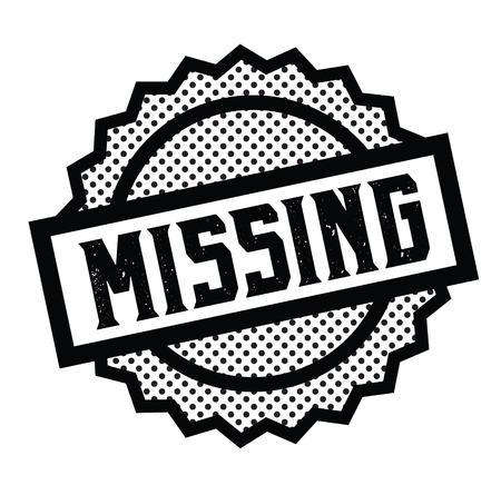 missing stamp on white