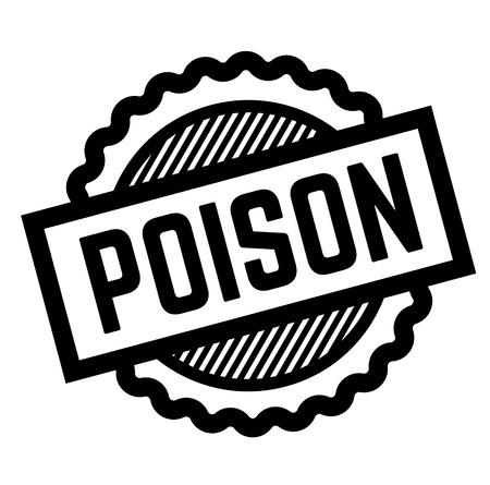 poison black stamp on white background. Sign, label, sticker