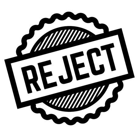 reject black stamp on white background. Sign, label, sticker