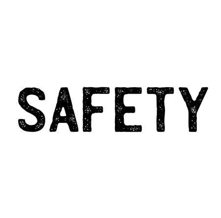 safety stamp on white background . Sign, label sticker