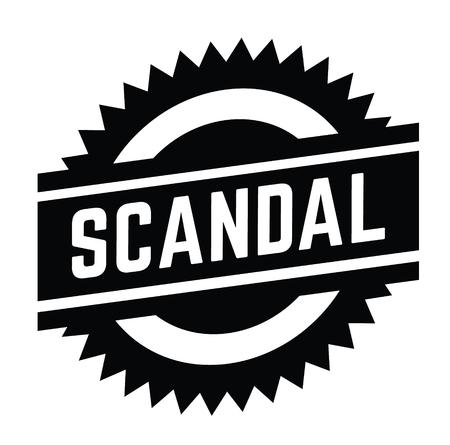 scandal stamp on white background . Sign, label sticker Illustration
