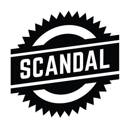 scandal stamp on white background . Sign, label sticker Illustration