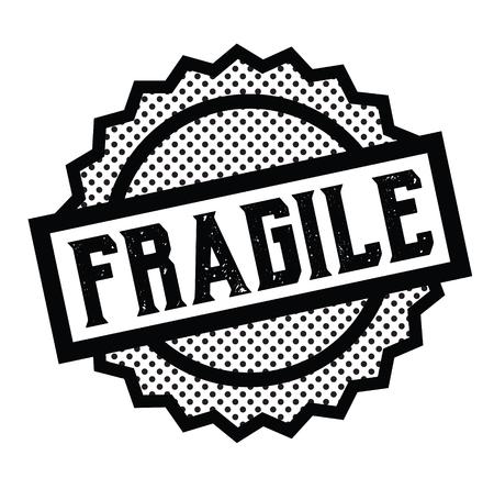 sello frágil en blanco