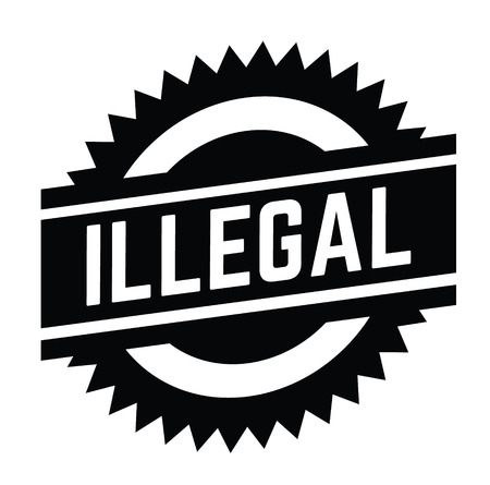 illegal stamp on white