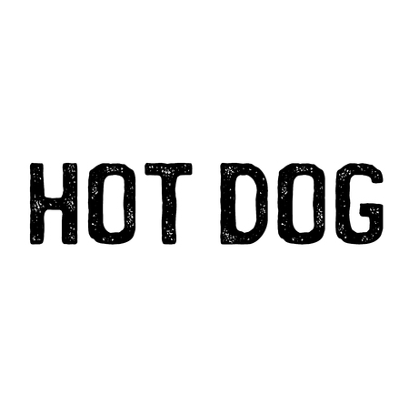 hotdog stamp on white background . Sign, label sticker