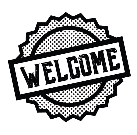 welcome stamp on white Illustration