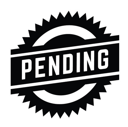 pending stamp on white background . Sign, label sticker