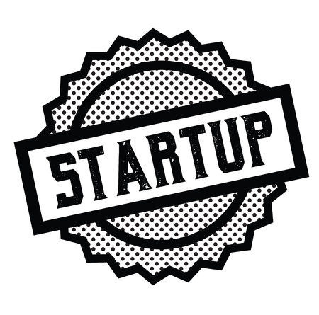 startup stamp on white