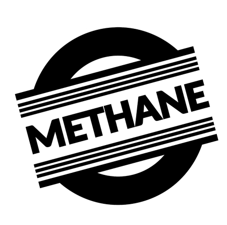 methane stamp on white background . Sign, label sticker