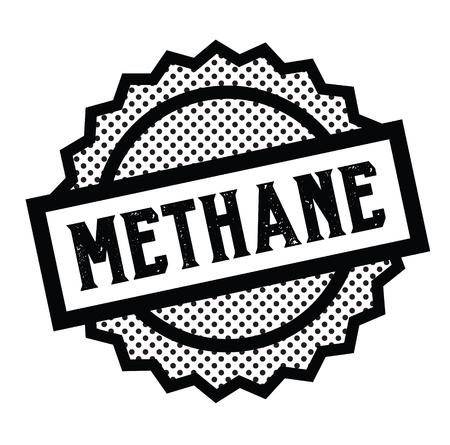 methane stamp on white