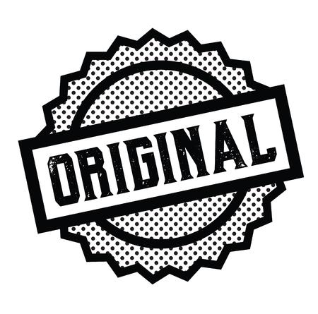 original stamp on white