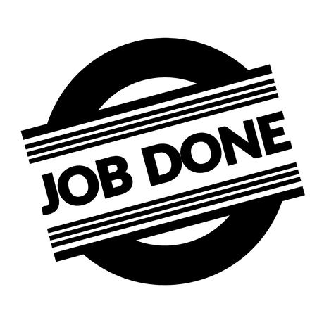 job done stamp on white background . Sign, label, sticker Illustration