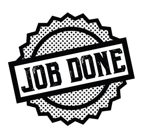 job done stamp on white