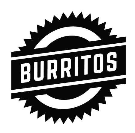 burritos stamp on white background . Sign, label sticker Stock Vector - 111801053