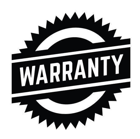 warranty stamp on white background . Sign, label sticker