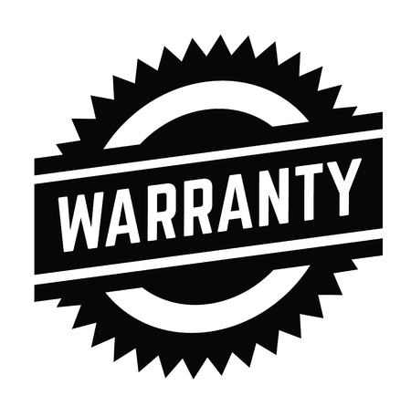 warranty stamp on white background . Sign, label sticker Stock Vector - 111801062