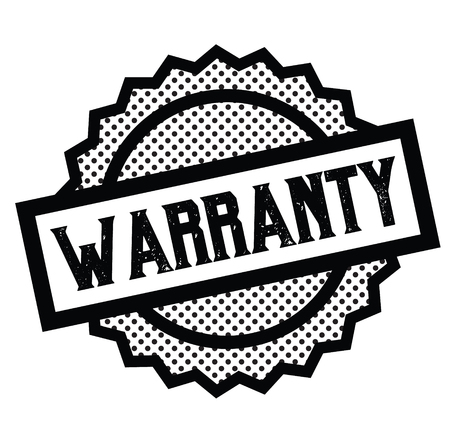 warranty stamp on white background . Sign, label sticker Stock Vector - 111801063