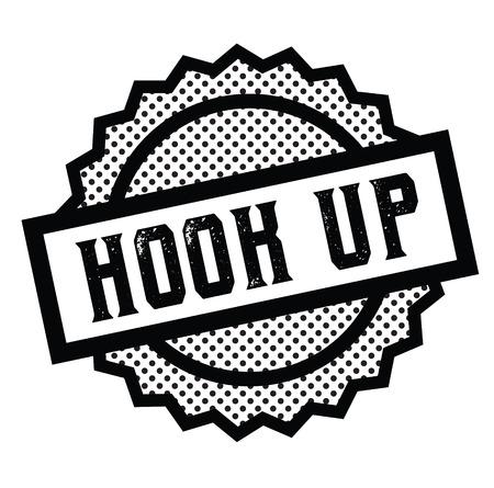 hook up stamp on white background . Sign, label, sticker