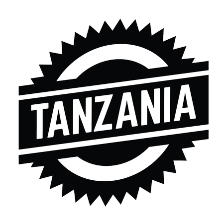 tanzania stamp on white background . Sign, label sticker