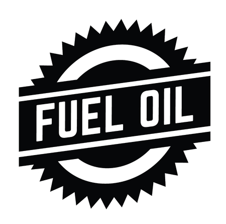 fuel oil stamp on white background . Sign, label, sticker