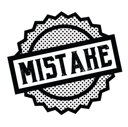 mistake stamp on white