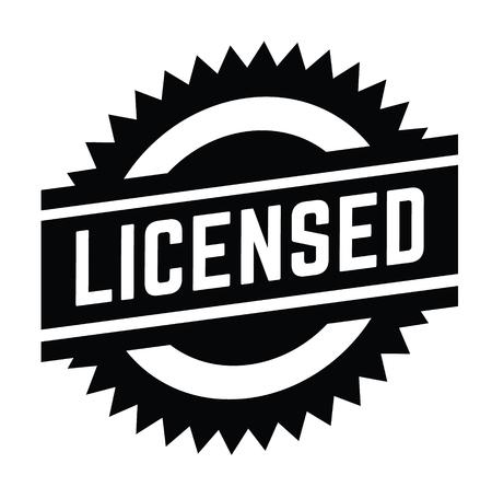licensed stamp on white background . Sign, label sticker