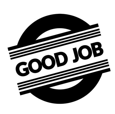good job stamp on white background . Sign, label, sticker