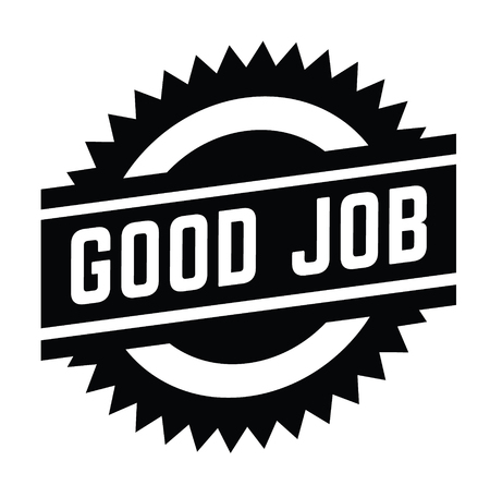 good job stamp on white background . Sign, label, sticker