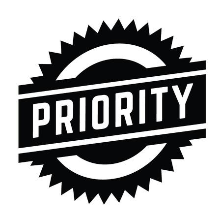 timbre de priorité sur blanc