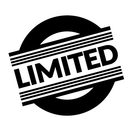 limited stamp on white background . Sign, label sticker