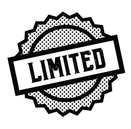 sello limitado en blanco