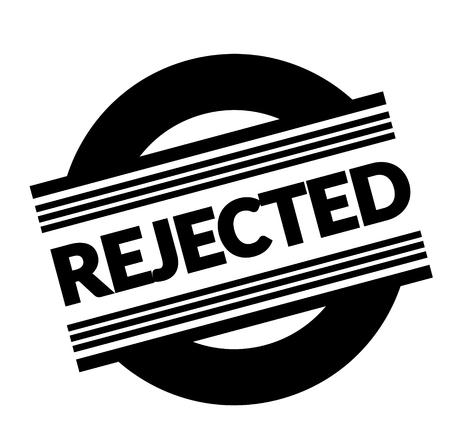 rejected stamp on white background . Sign, label sticker Illustration